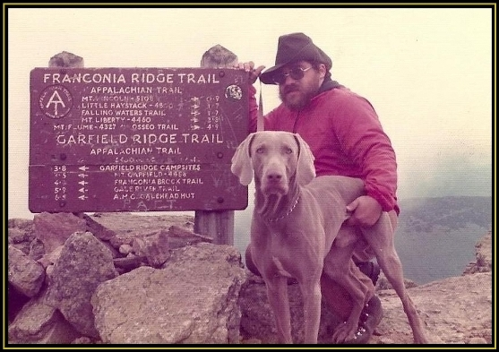 On the Summit of Mt Lafayette - 1976