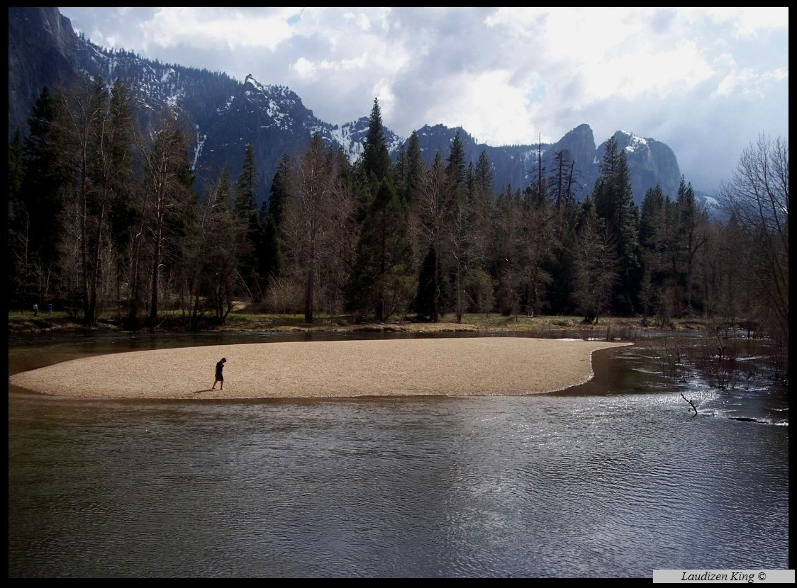 Sandbar, Merced River, Yosemite Valley